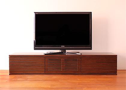 ルーバー・テレビボードv02、1800幅