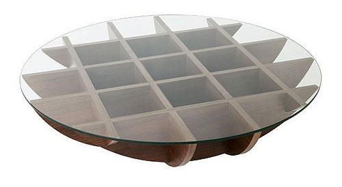 イソラ クリアガラス テーブル