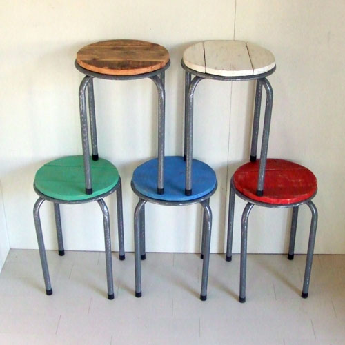 自転車の輪テーブル