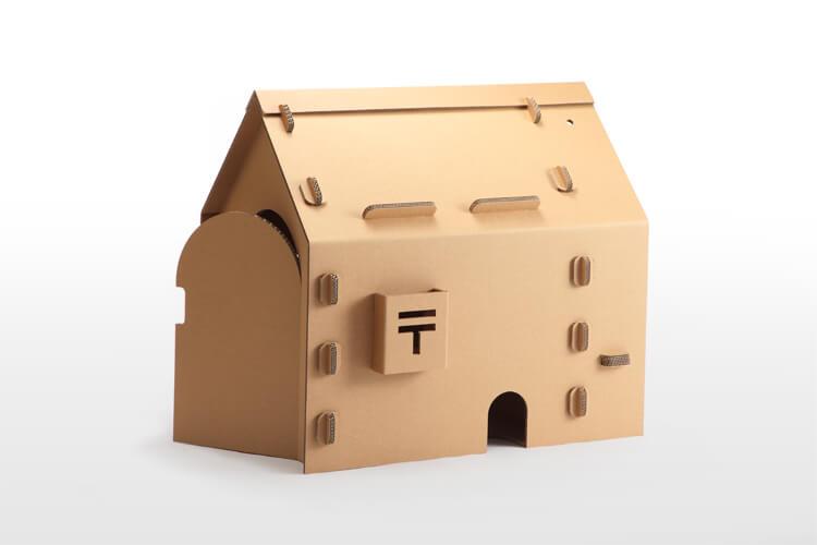強化段ボールハウス・子供の小屋「プレイリー」