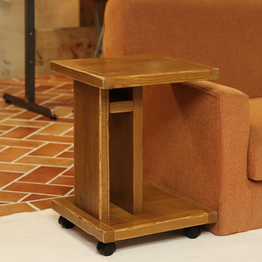足場板古材 サイドテーブル