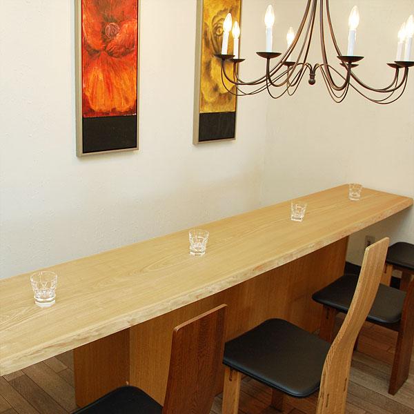 DIY タモ カウンター材天板