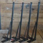 無塗装 黒皮仕様 カフェテーブル脚/55cm