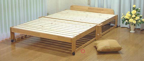折りたたみベッド ミドルタイプWベッド ダブルベッド