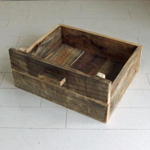 リサイクルウッド・90ローボード用ウッドボックス
