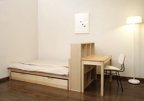 木と風 シングルベッド
