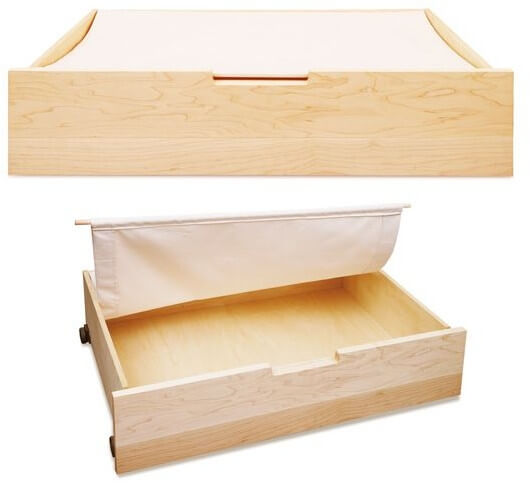 木と風 ベッド下収納ボックス メープル