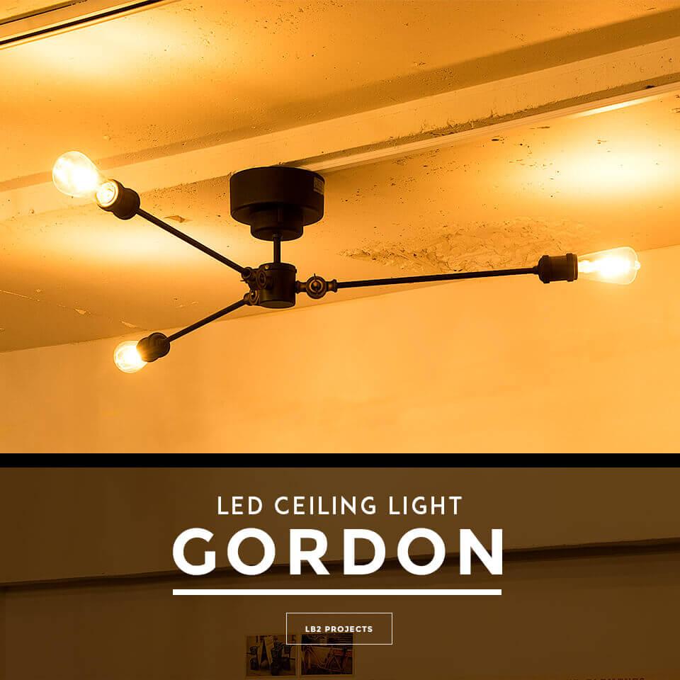LED電球セット シーリングライト 3灯 GORDON(ゴードン)