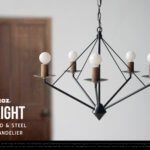 FLIGHT WOOD & STEEL CHANDELIER