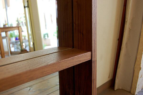 無垢天然木製ボックスミラー