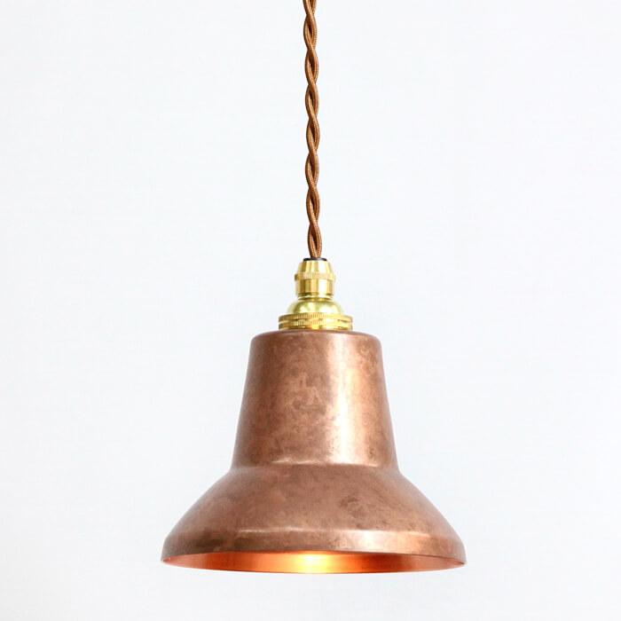 銅板シェードのペンダントライト tone spot copper pink