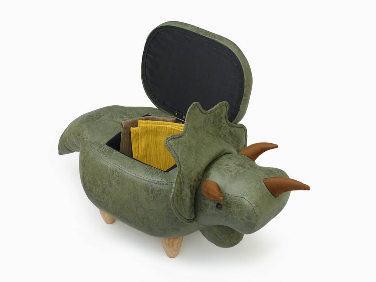 アニマルスツール トリケラトプス 収納付き