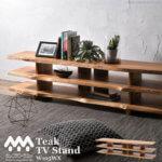 テレビ台 ローボード チーク無垢木製 BREEZE