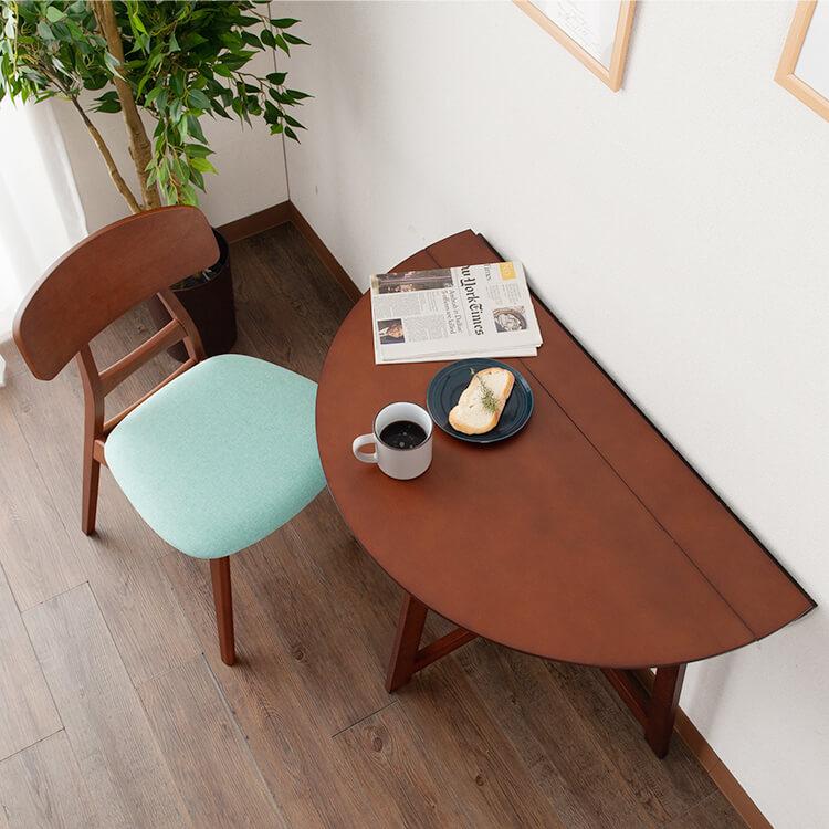 折りたたみ式円形ダイニングテーブル