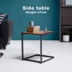 ブラックスチール サイドテーブル