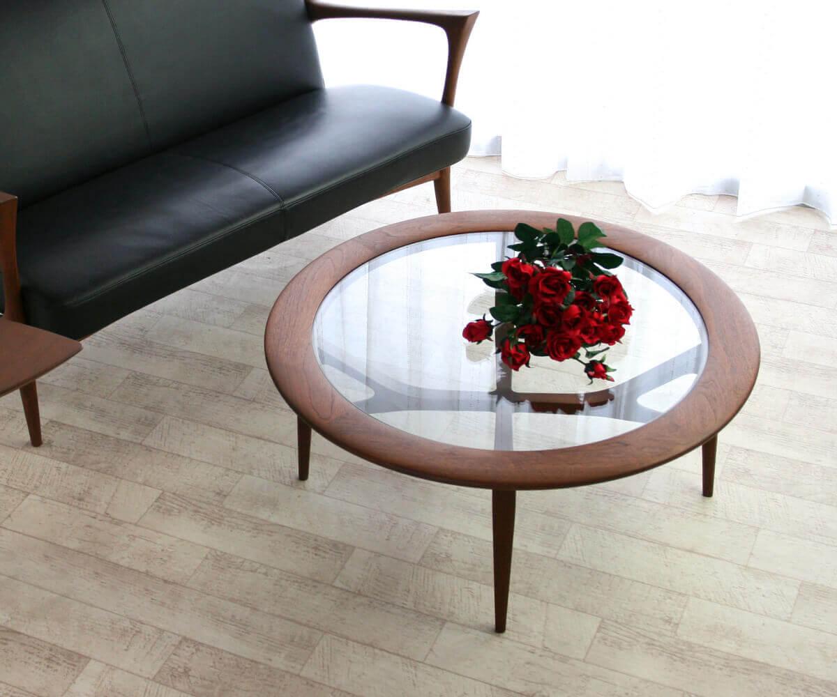 匠工芸 CREER(クレール) リビングガラステーブル