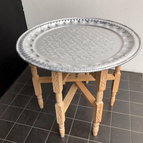 モロッコ アルミトレイテーブル