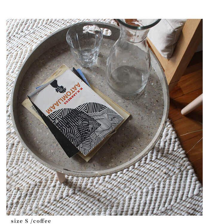 リ・アセコ サイド トレー テーブル