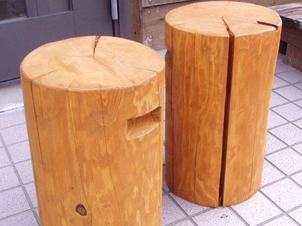 丸太椅子2個セット