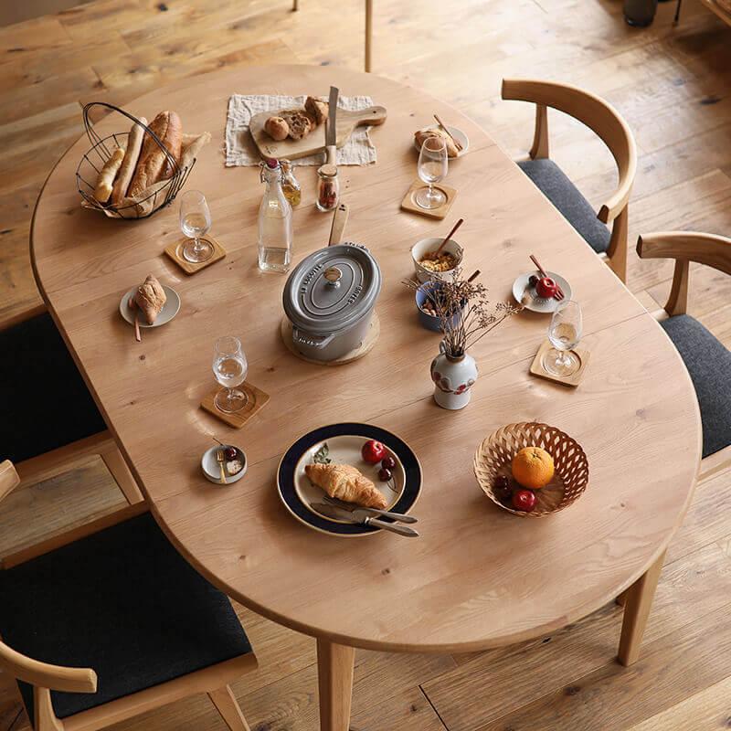 folk 楕円伸長式ダイニングテーブル