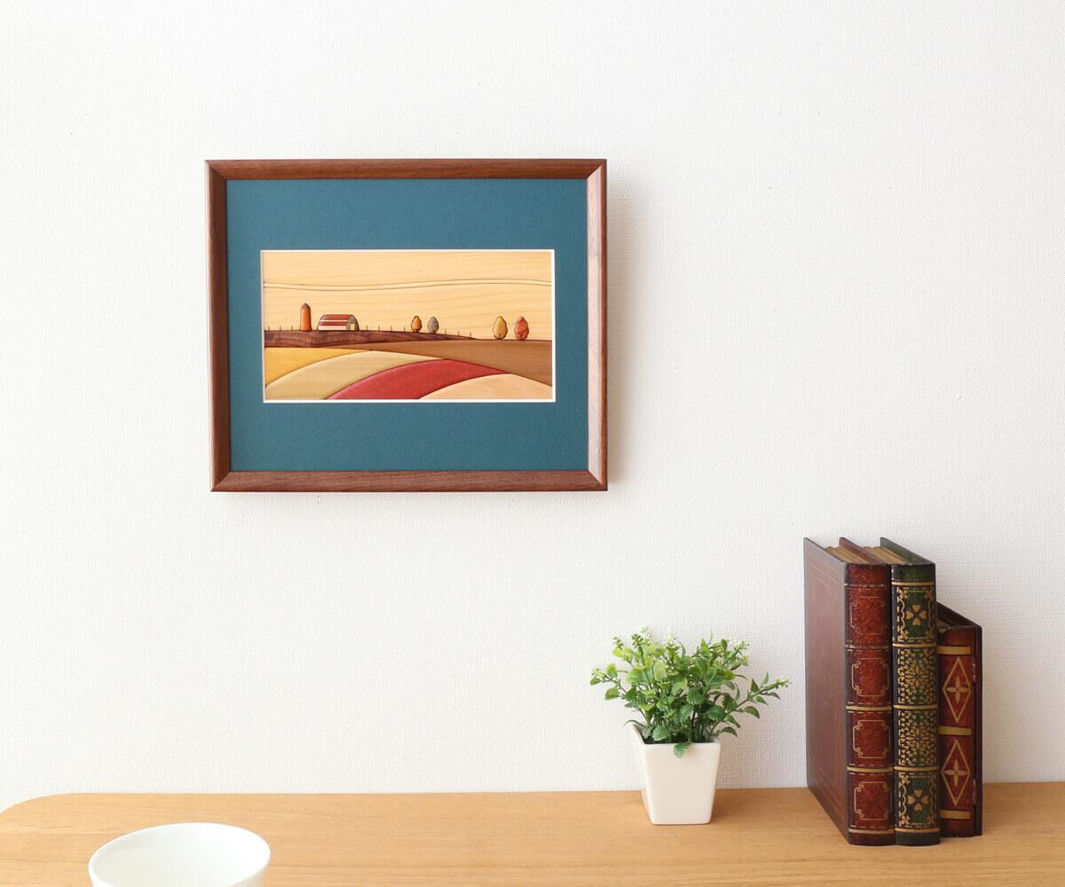 旭川クラフト E13 寄せ木額 風景