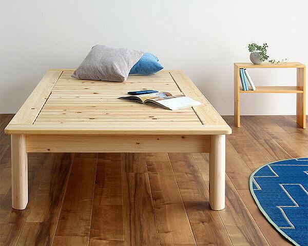 高さ別注できる木製畳ベッド