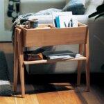 アルダー材のサイドラックテーブル