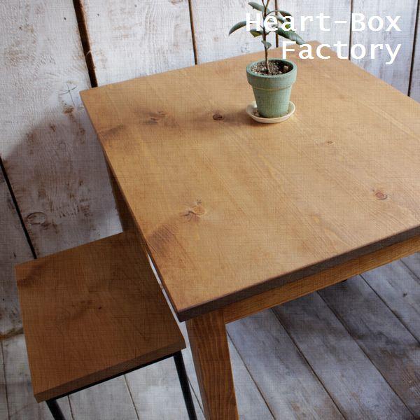 カフェテーブル/パイン材 80×65