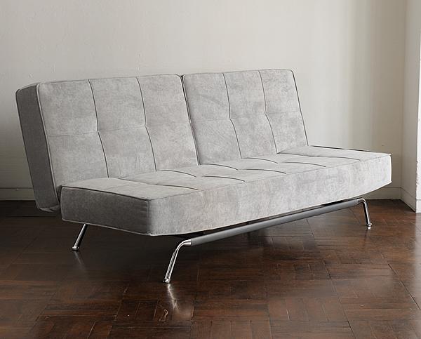ボリューム感のあるマットレスが心地良いSofa Bed/ソファベッド LK-11 グレー