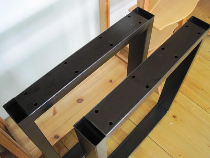 テーブル脚 口型スチール脚